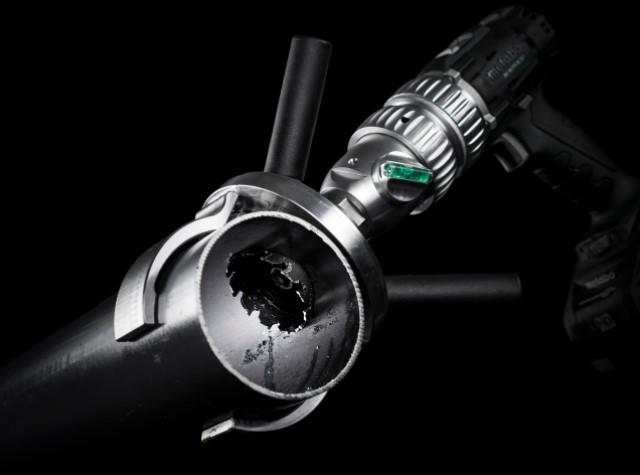 Snapdrill adaptér na vŕtanie otvorov do rúr, - sprinkler system